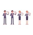 Office workers with clipboards vector image