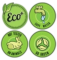 Set with circle ecology labels vector image