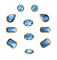Sapphire Set Isolated Objects vector image