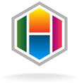Letter H logo vector image