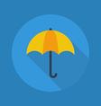 Weather Flat Icon Umbrella vector image