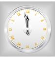 skeleton clock vector image