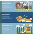 Set of flat Italy web banners vector image
