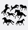 Horse pet animal action silhouette vector image