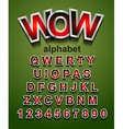 Christmas Alphapet Font to use for childrens vector image