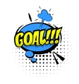 Comic sound effects pop art word Lettering OH vector image
