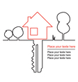 House key and mortgages vector image