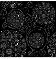 Line art design Christmas seamless pattern vector image