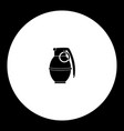 one military grenade simple black icon eps10 vector image