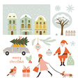 Set of Christmas elements and vector image