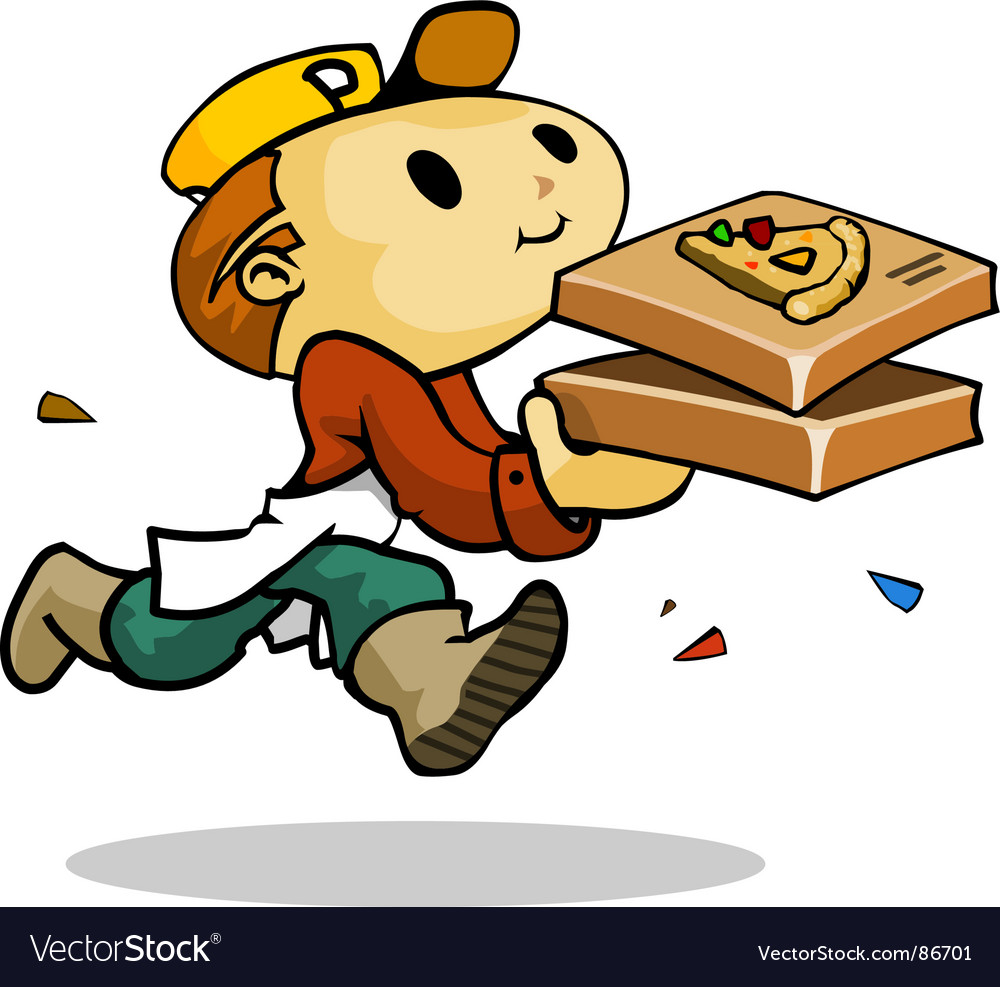 Pizza rush vector