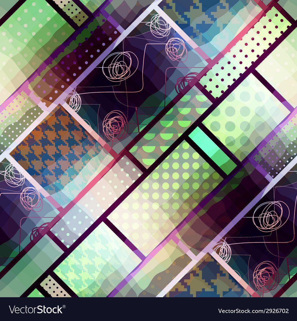 Geometric pattern with effect waves vector