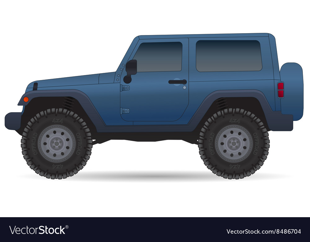 Off road vehicle car for bad roads vector