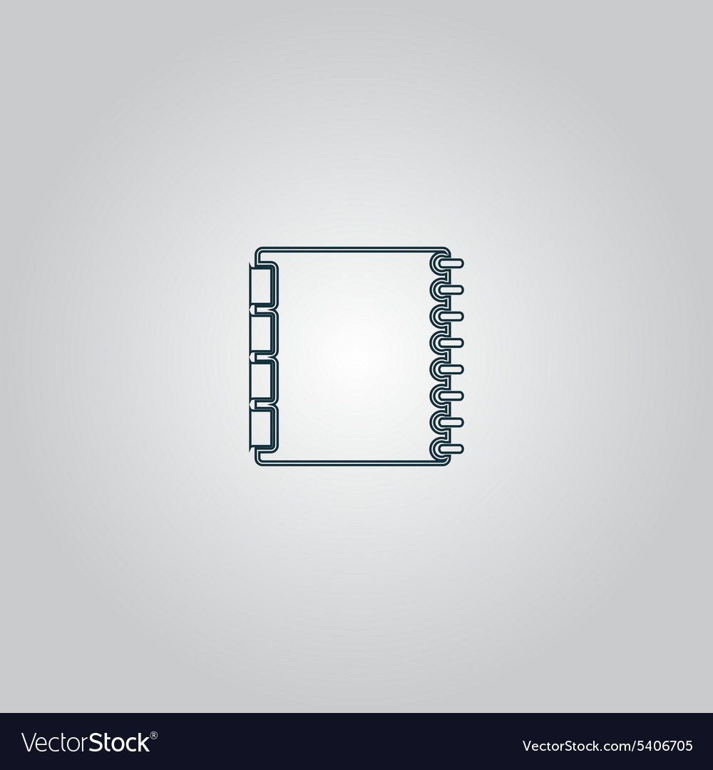 Organizer icon vector