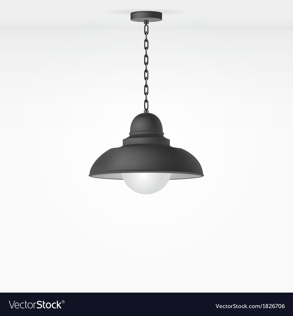 Isolated lamp vector