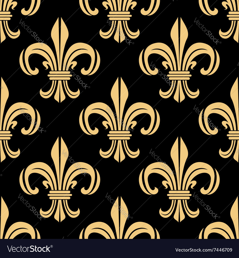 Beige and black seamless pattern vector
