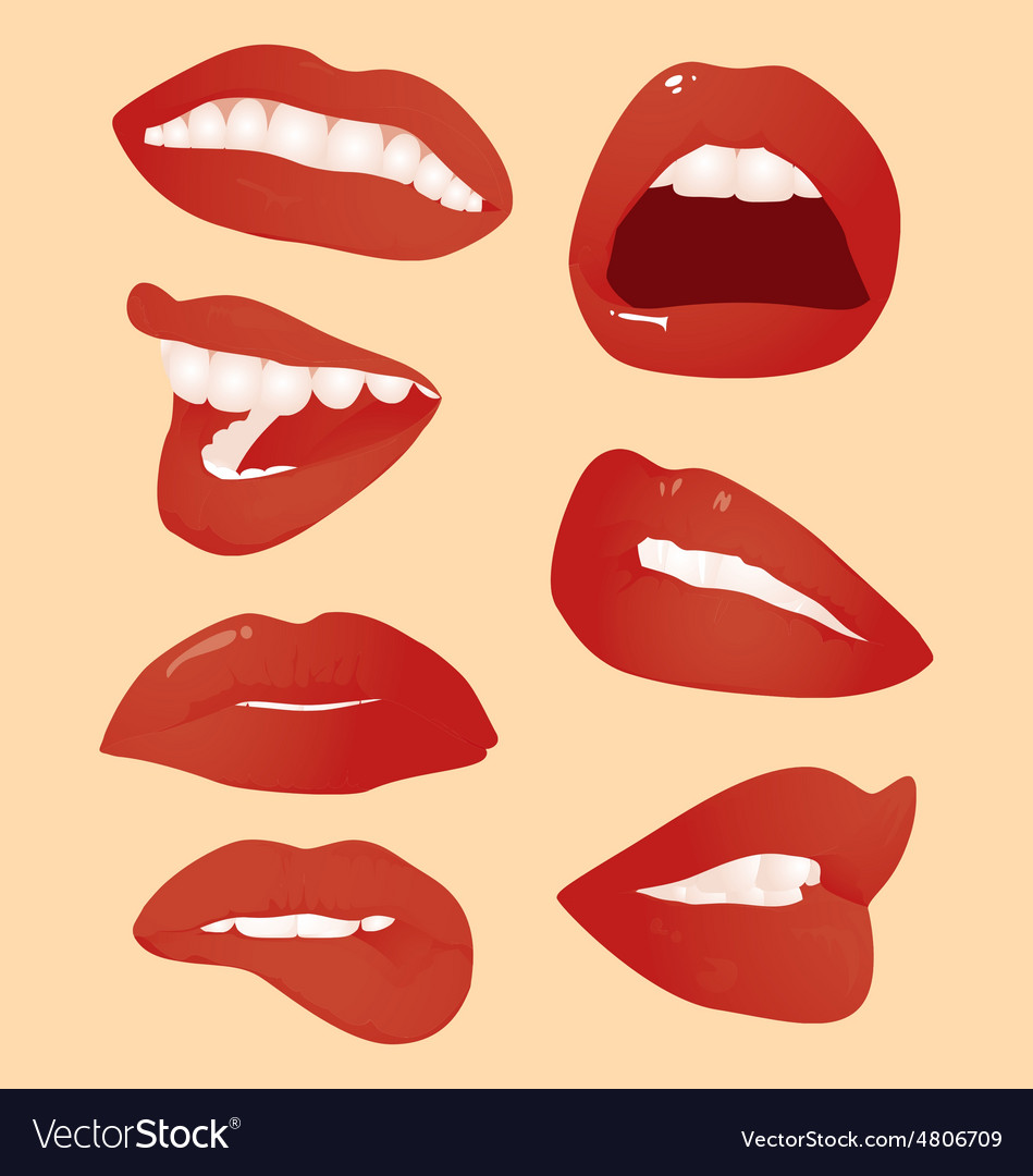 Smile and lips vector