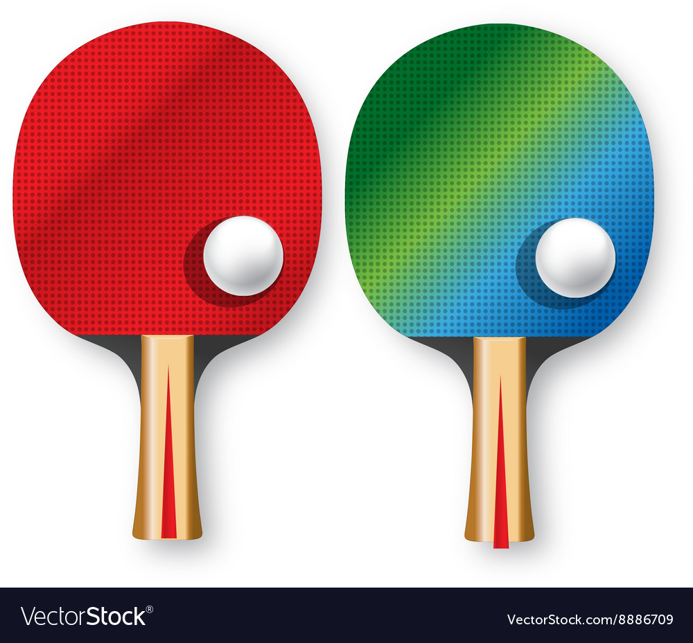 Two rackets for table tennis vector