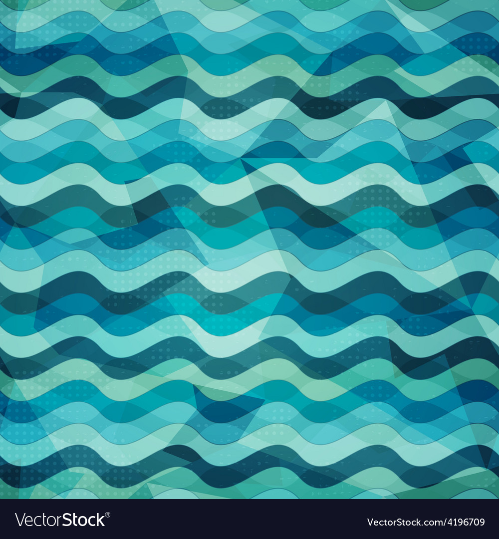 Water seamless pattern with grunge effect vector