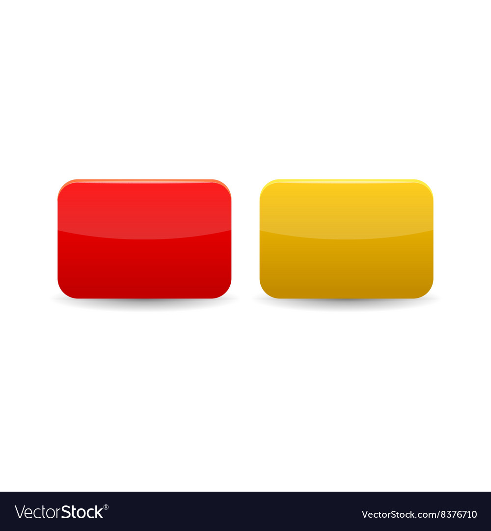 Red and yellow cards icon cartoon style vector