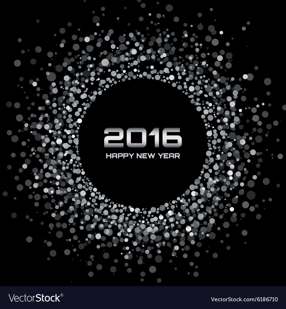 White  black new year 2016 background vector