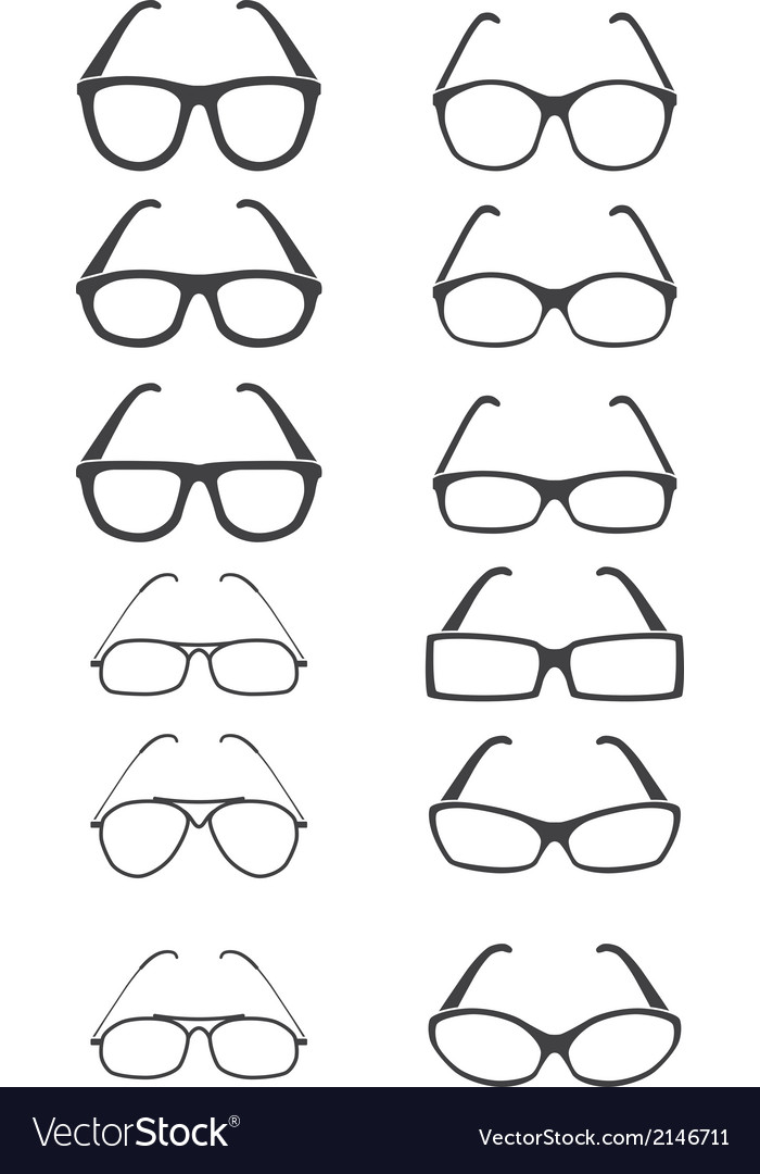 Glasses set vector
