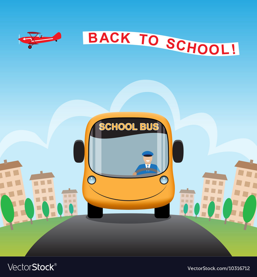 Back to school cartoon background vector