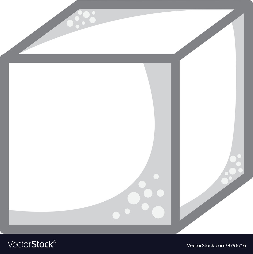 Cube sugar isolated icon design vector
