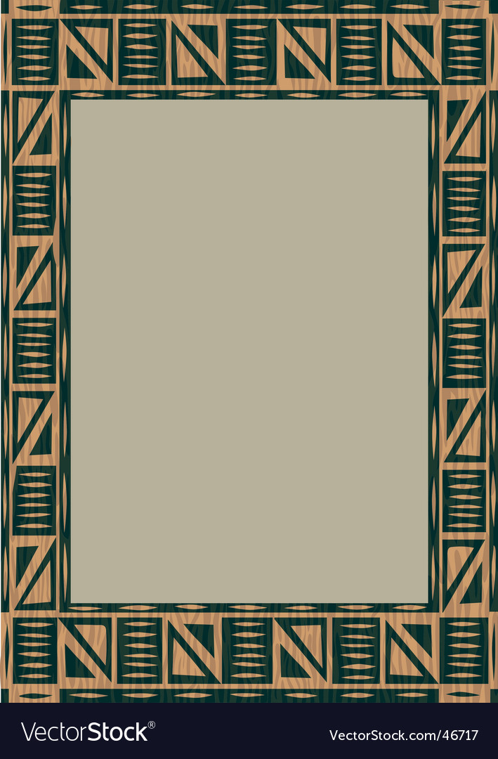 African wooden frame vector