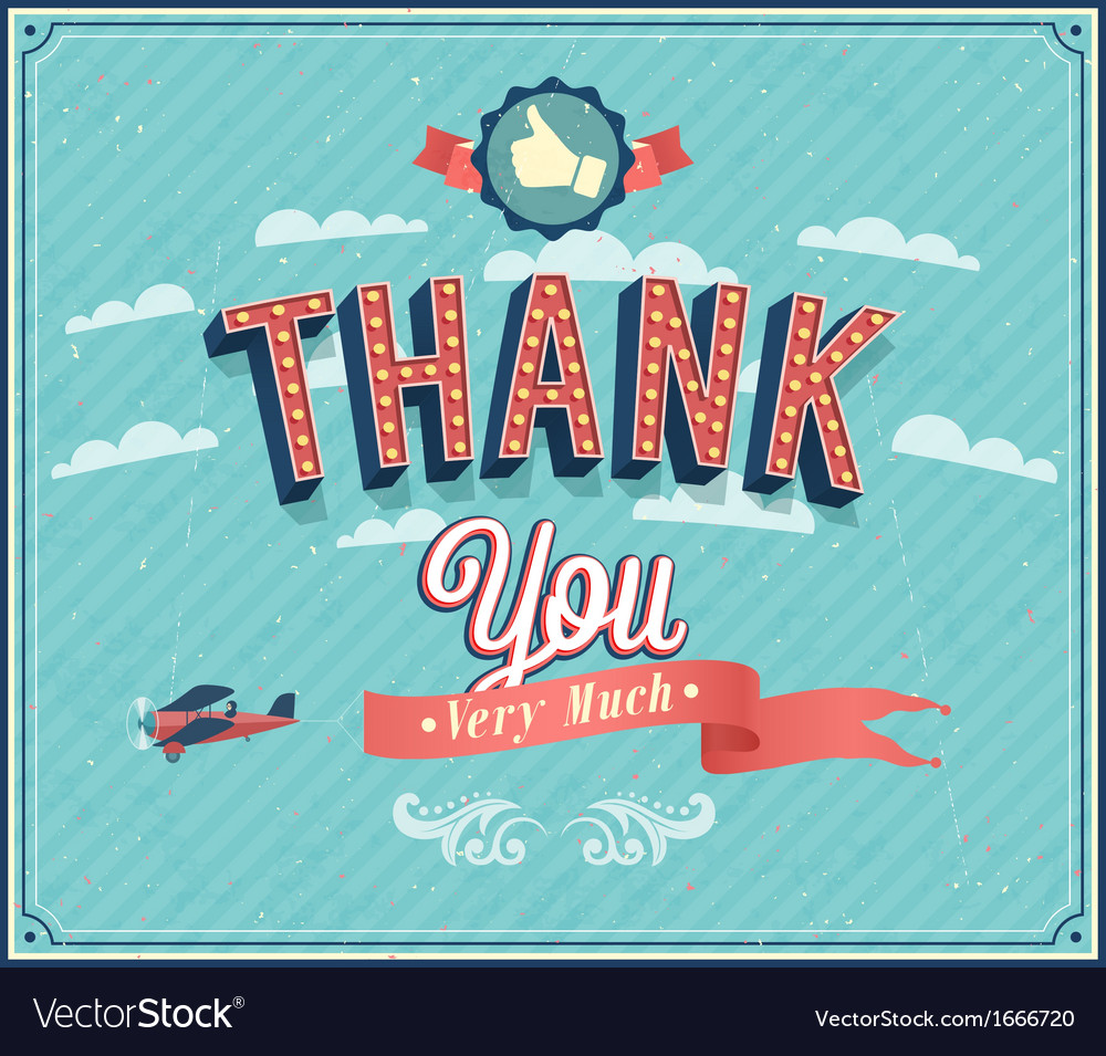 Thank you typographic design vector