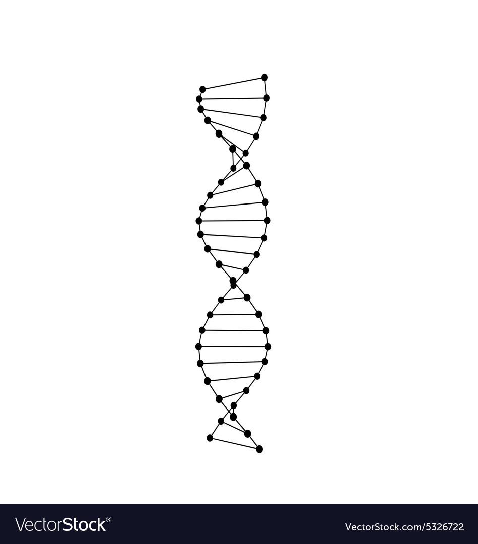 Pictogram of dna symbol isolated vector