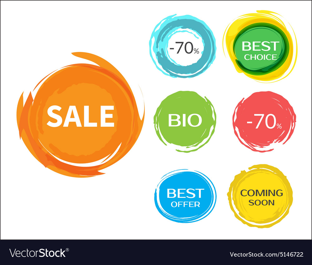 Sale paint drops set vector