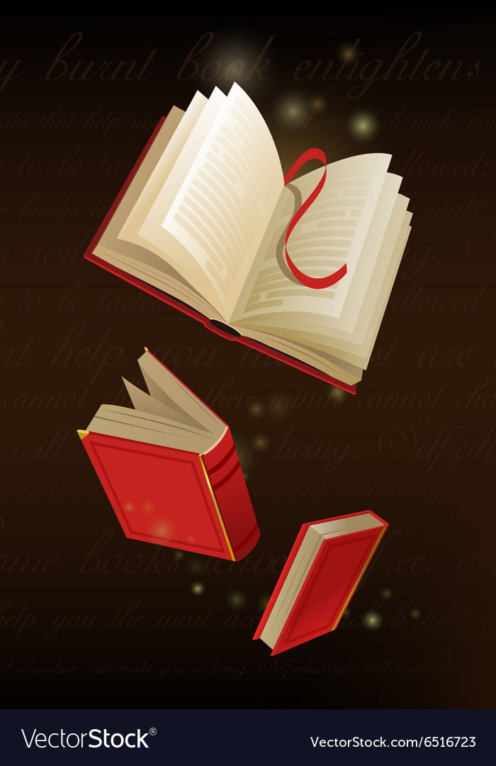 An opened magic book vector