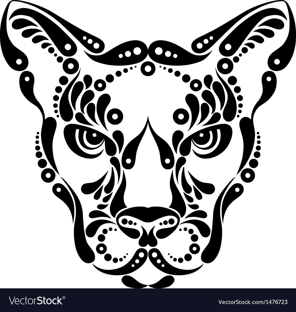 Puma tattoo vector