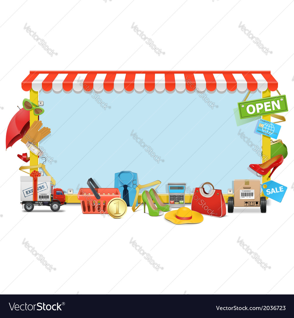 Shopping board vector