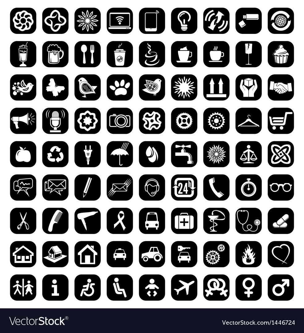 Big icon set vector