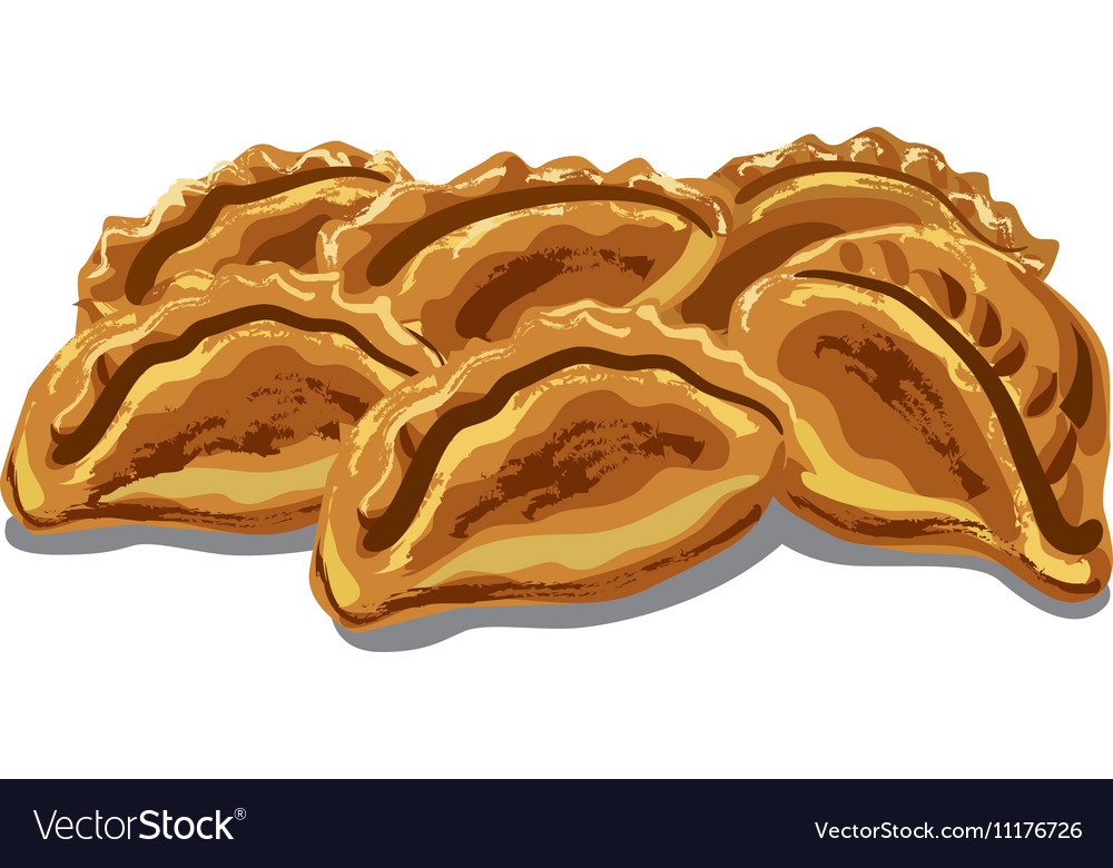 Fresh hot pastries vector