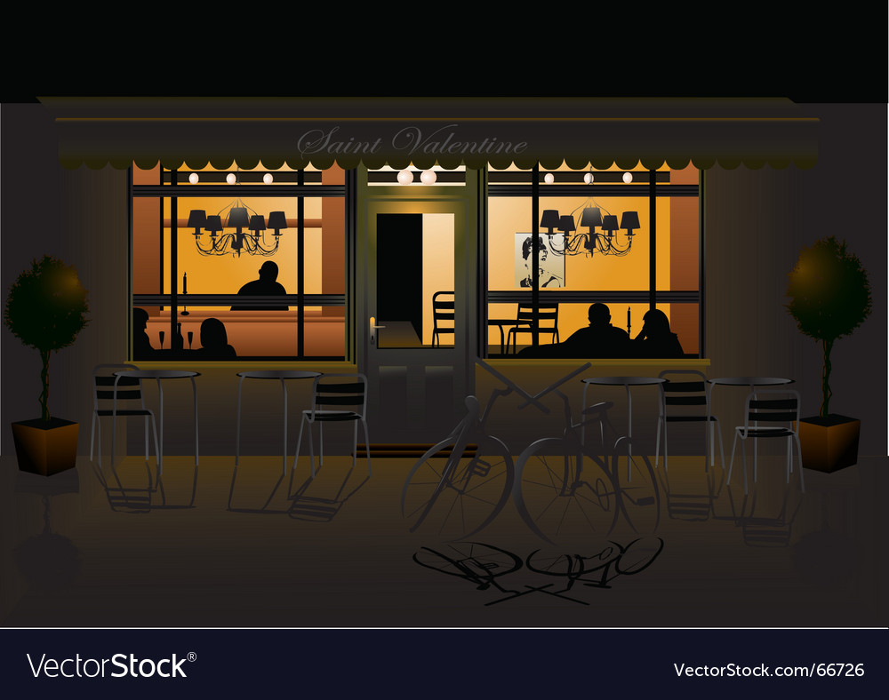 Romantic evening vector