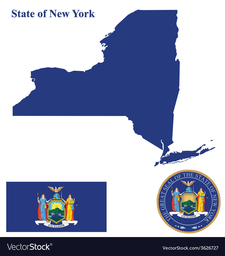 State of new york flag vector