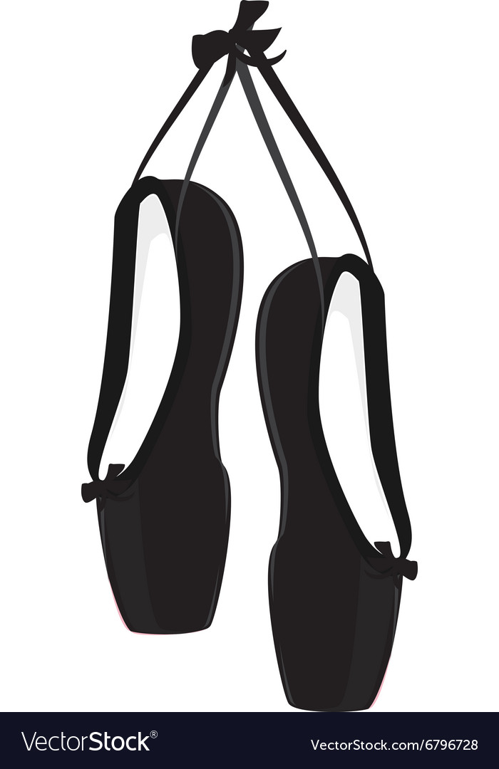 Black ballet pointe vector