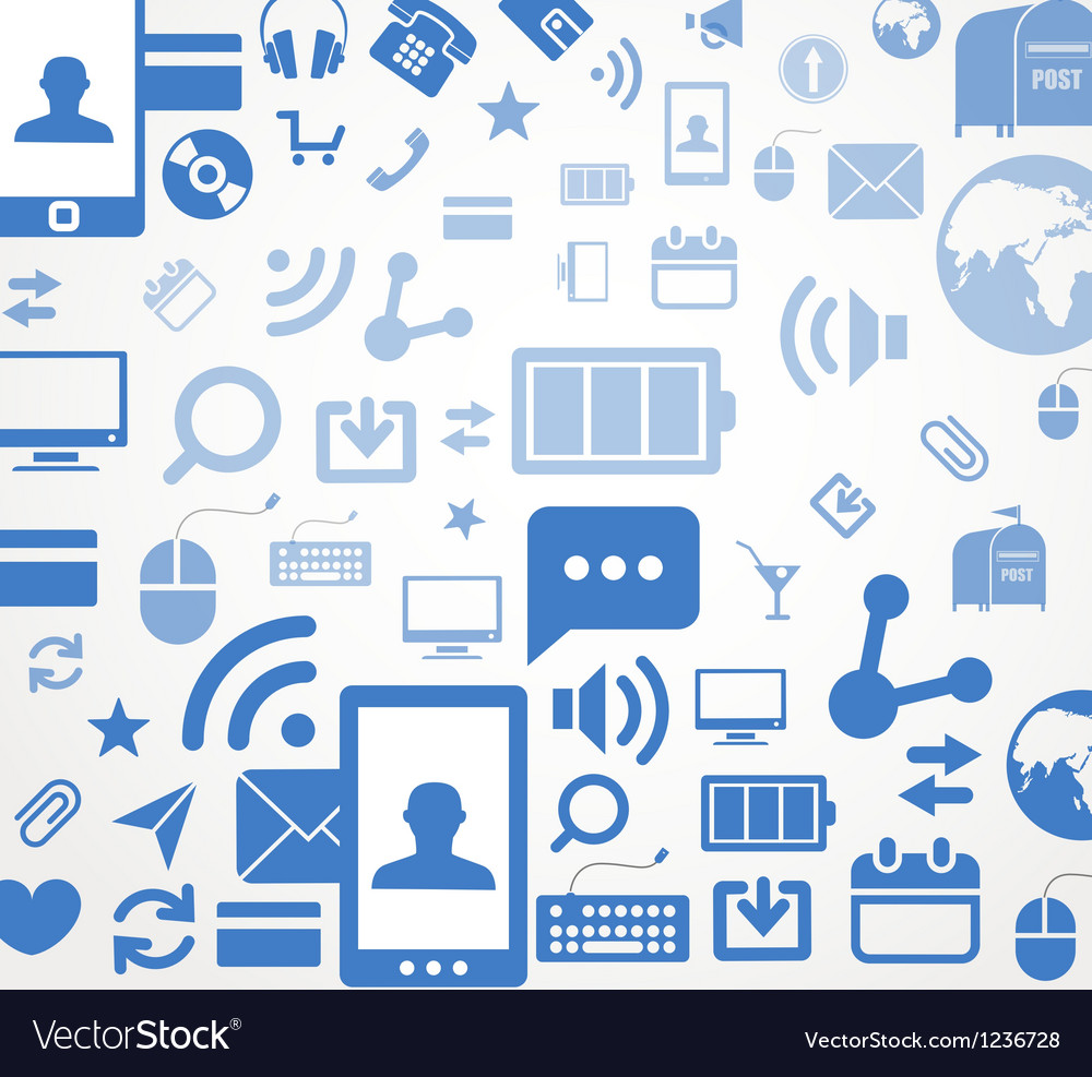 Social media icons abstract background vector
