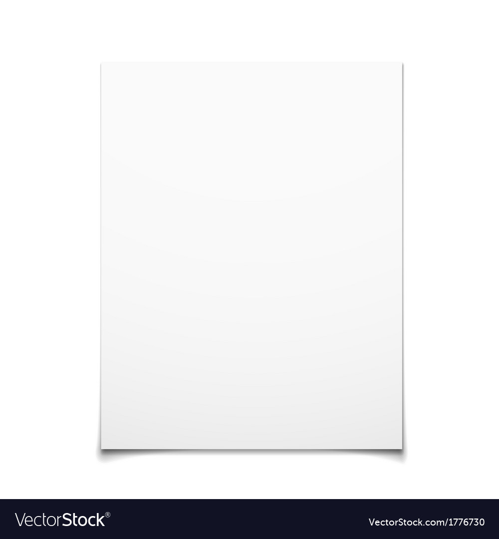 Paper card isolated on white background vector