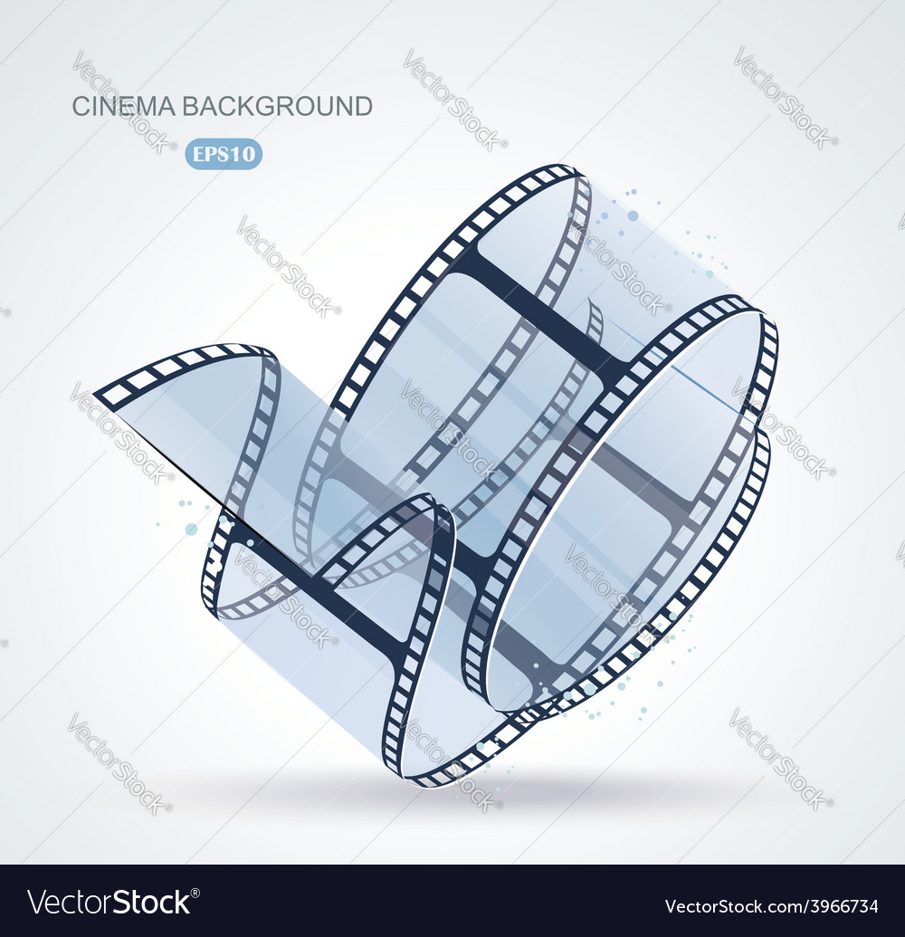 Twisted film for photo or video recording on white vector
