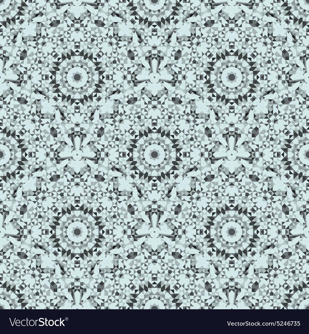 Abstract seamless blue and black pattern vector