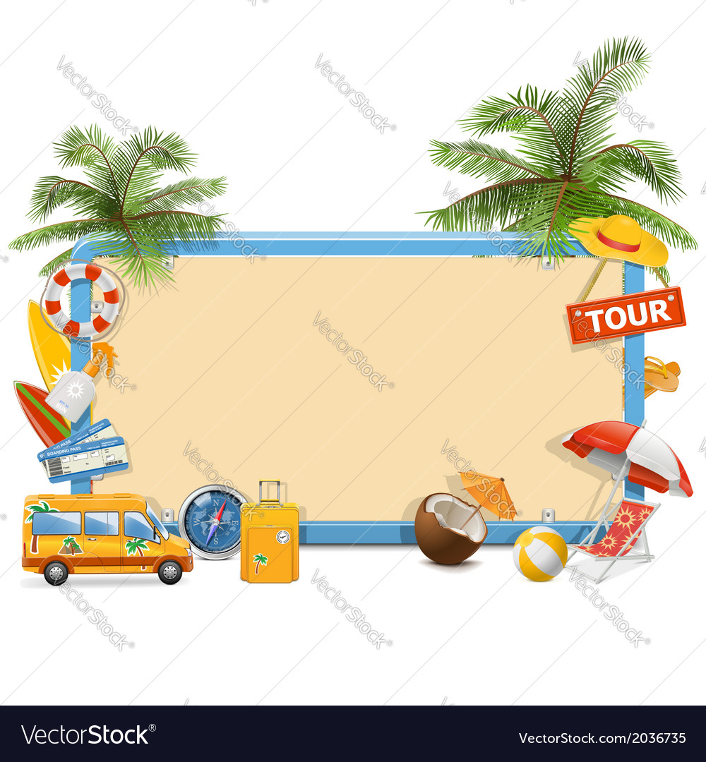 Traveling board vector