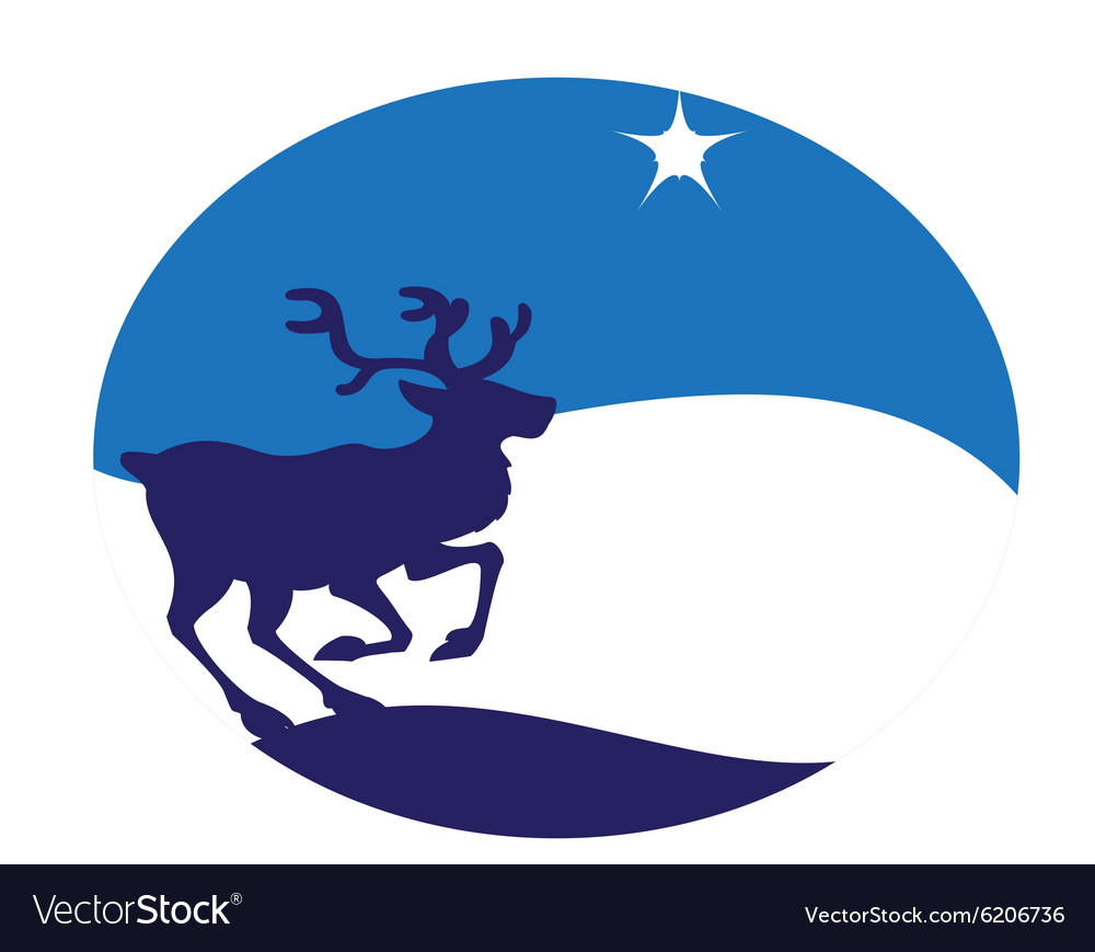 Young deer blue vector