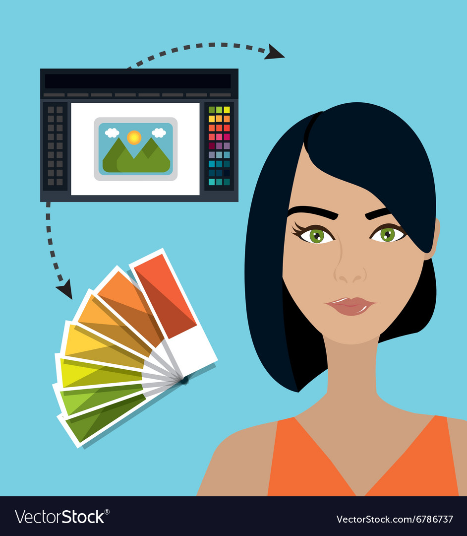 Creative ideas graphic designer vector