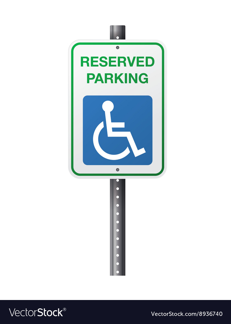 Handicap reserved parking sign vector