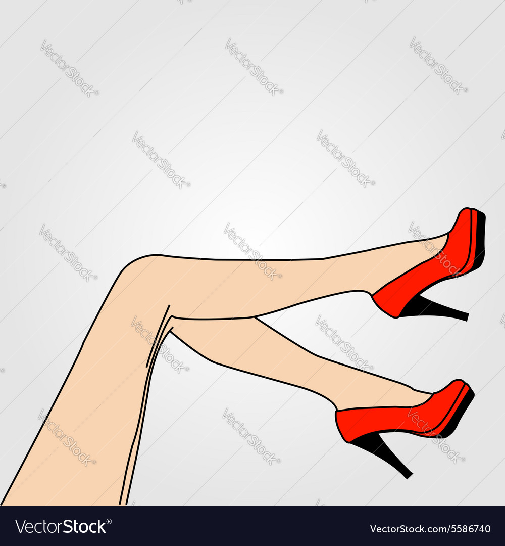 Legs of a woman wearing stilettos vector