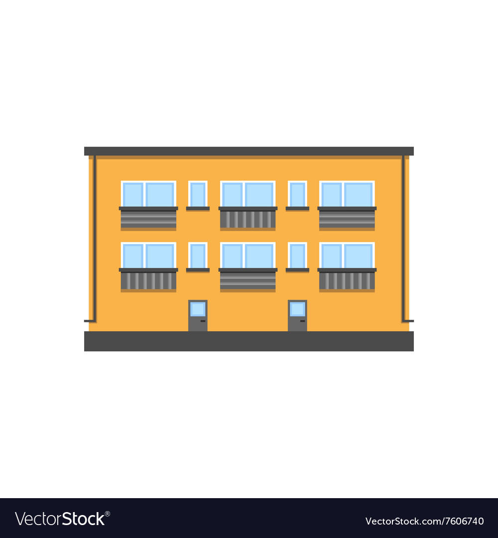Twostorey house vector